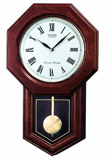 "Seiko "" School House"" Wall Clock QXH102B RRP £230.00 Now £199.50"