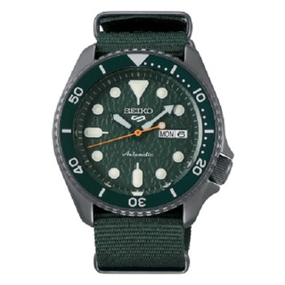 Seiko 5 Sports Automatic Green Dial Watch SRPD77K1 RRP £280.00 Our Price £223.95