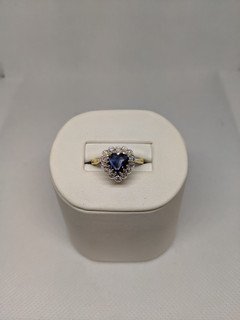 18ct heart cut sapphire and diamond ring £4375