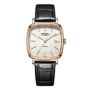 Gents Rotary Rose Gold Plated Cushion Shape Watch GS05309/01 Price £99.95