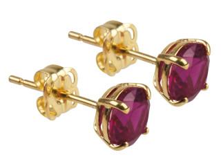 9ct July birthstone stud earrings (Ruby)