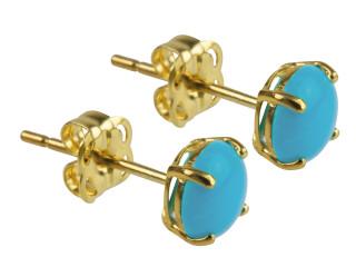 9ct Gold December birthstone stud earrings (Turquiose)