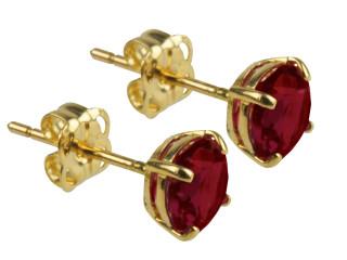 9ct Gold January birthstone stud earrings (Garnet)