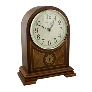 Wm Widdop Wooden Barrister Mantel Clock