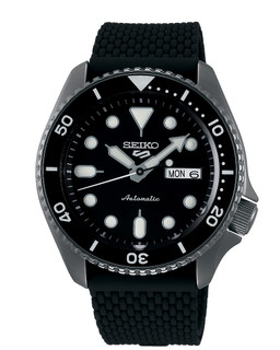 Seiko 5 Sports Automatic Black Dial Watch SRPD65K2 RRP £280.00 Our Price £209.95