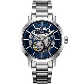 Rotary Blue Dial Greenwich Gents Automatic Skeleton Watch GB05350/05 £239.95