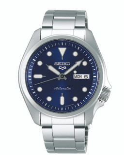 Seiko 5 Sports Automatic Blue Dial Watch SRPE53K1 RRP £230.00 Our Price £183.95