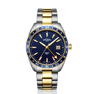 Rotary Henley GMT Two Tone Watch GB05296/05 RRP £219.00 Our Price £174.95