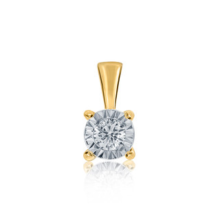 9ct Yellow Gold Claw Setting Diamond Pendant