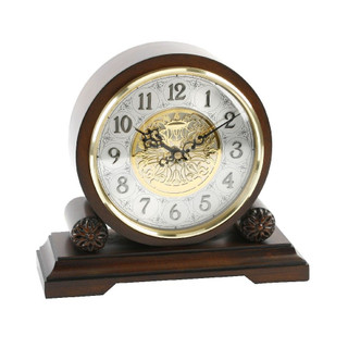 WILLIAM WIDDOP WESTMINSTER BARREL MANTEL CLOCK IN WALNUT