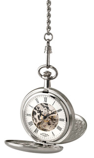 Rotary Gents White Case Pocket Watch MP00726/01 RRP £149.00 Our Price £118.95