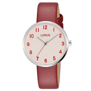 Ladies Soft Pink Dial Red Leather Strap Watch RG227SX9 RRP £44.99 Now £35.95