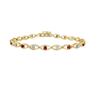 9ct Ruby & Diamond Bracelet