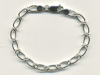 Silver Handmade Bracelet With Lobster Catch