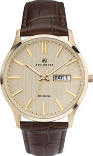 Gents Accurist Brown Strap Watch 7234 RRP £74.99 Our Price £63.75