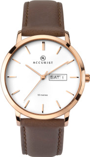 Gents Rose Gold Plated Stainless Steel Dress Watch 7260 RRP £84.99 Our Price £67.95