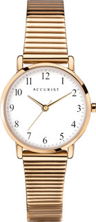 Accurist Ladies Gold Plated Clear Dial Bracelet Watch