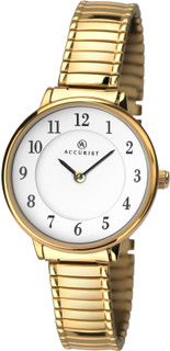 Accurist Ladies Gold Plated Expanding Bracelet Watch