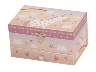 APONI RAINBOW UNICORN MUSICAL JEWELLERY BOX