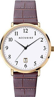 Accurist Men's Brown Leather Watch 7370 RRP £69.99 Our Price £55.95