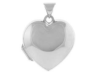 Sterling Silver Heart Shaped Family Locket & Chain