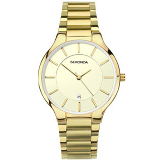 Sekonda Gents Gold Plated Bracelet Watch 1384 RRP £59.99 Our Price £47.95