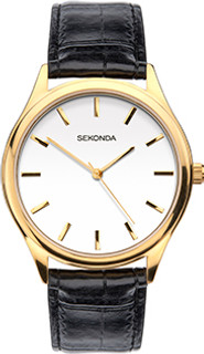 Sekonda Gents Classic Gold Plated Strap Watch 1535 RRP £39.99 Our Price £31.95