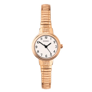 Ladies Rose Gold Tone Expanding Bracelet Watch 2808 RRP £39.99 Our Price £31.95