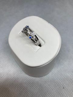 "9ct White Gold Diamond & Sapphire ""Rain Drops"" Ring"