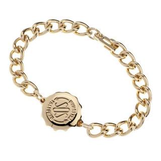 SOS Talisman Gold Plated Gents Plain Bracelet & Capsule