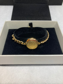 SOS Talisman Gold Plated Ladies Plain Bracelet & Capsule