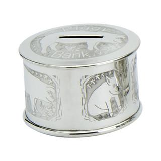 Pewter Piggy Bank Money Box