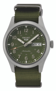 Seiko 5 Sports Automatic Green Dial Watch SRPG33K1 RRP £240.00 Our Price £191.95