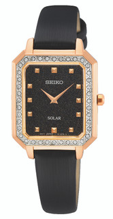 Seiko Solar Ladies Crystal Watch SUP446P1 RRP £290.00 Our Price £231.95