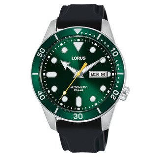 Lorus Mens Green Dial Automatic Watch with Rubber Strap RL455AX9 £110.95
