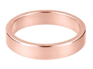 9ct Rose Gold Flat Wedding Band