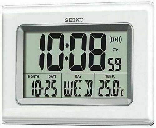 LCD desk clock from SEIKO QHL058W RRP £45.00 Our Price £39.95