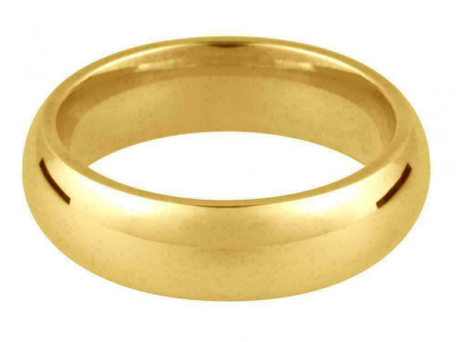 18ct Yellow Gold 4mm Medium Weight Court Shape Wedding Ring