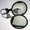 """Can Am Extended Billet Arm 5.0"""" Round Flat Glass Side Mirror by Axia Alloys"""