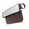 """Can Am 12"""" Wide Panoramic Rearview Mirror with Folding Sun Visor – Tinted Shield by Axia Alloys"""