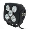 Can Am Commander 4.5 Inch Work Light 50 Watt Spot Rgb Accent Megaton Series Quad-Lock/Interlock