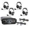 Can Am 4-Place Intercom with 60 Watt Radio and AlphaBass Headsets