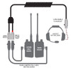 Can-Am Coil Cord - Headset to 5-Pin and 5-Pin Listen Only