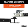 """Can Am 3-In-1 Atv Ball Mount With 2"""" Shank And 2"""" Trailer Ball"""