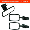 Can Am Clearview UTV Mirror Tri Pack (2) Clearview Side Mirrors (1) Clearview Rearview Mirror by ATV TEK