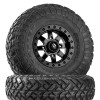 Can Am Maverick D928 Matte Black Beadlock Wheels with Fuel Gripper R   T Tires by Fuel Off-Road