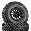 Can Am Vector D579 Matte Black Wheels with Fuel Gripper Tires by Fuel Off-Road