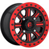 Can Am Fuel Hardline D911 Gloss Black & Milled With Red Accents Beadlock Wheel Set by Fuel Off-Road