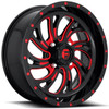 Can Am Fuel Kompressor D642 Gloss Black With Red Accents Wheel Set by Fuel Off-Road