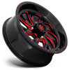 Can Am Fuel Kompressor D642 Gloss Black With Red Accents Wheel Set